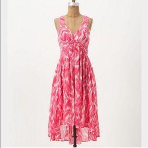 Postmark Anthropologie Pink Watercolor Dress 00